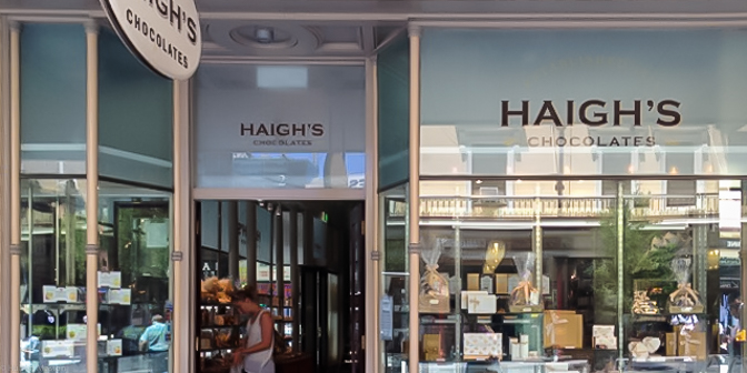 Virginie and the Haigh's Chocolate Factory