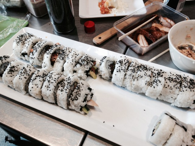 That sushi is a diva!
